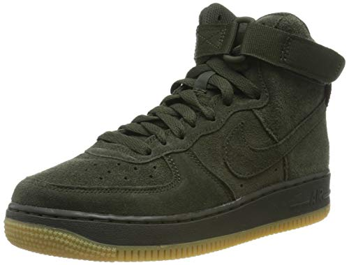 Nike Herren Air Force 1 High LV8 Gs 807617-300 Fitnessschuhe, Mehrfarbig (Sequoia/Sequoia/Gum Light Brown 300), 38.5 EU