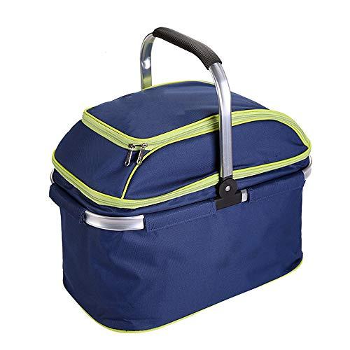 WJQ Einkaufskorb Isolationstasche Faltbares Picknickpaket Multifunktions-Campingzubehör für draußen Langlebig, wasserdicht und stabil Große Kapazität kann Platz sparen