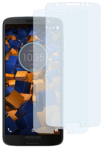 mumbi Schutzfolie kompatibel mit Motorola Moto G6 Folie klar, Bildschirmschutzfolie (2X)