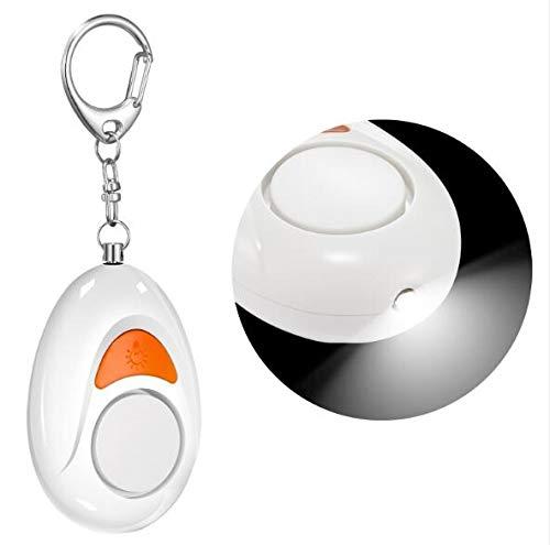 Yideng 2 Stücke Taschenalarm Frauen Persönlicher Alarm Schlüsselanhänger 125DB Panikalarm Taschenlampe schlüsselanhänger für Frauen Mädchen und ältere Menschen