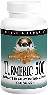 Source Naturals Turmeric 500mg, Supports Healthy Inflammation Response - 60 Tablets