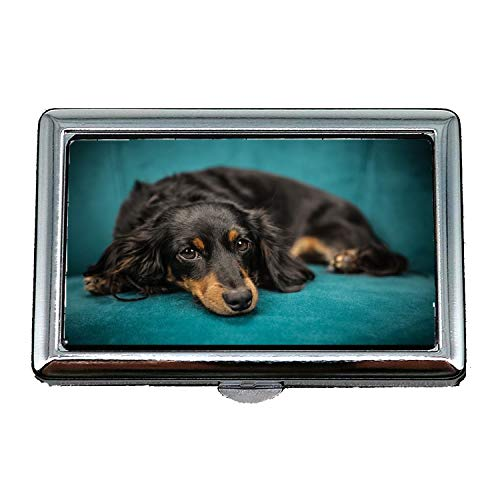Hard Box Zigarettenetui, Hund Welpen Haustier Tier Sofa, Visitenkartenetui Visitenkartenetui Edelstahl