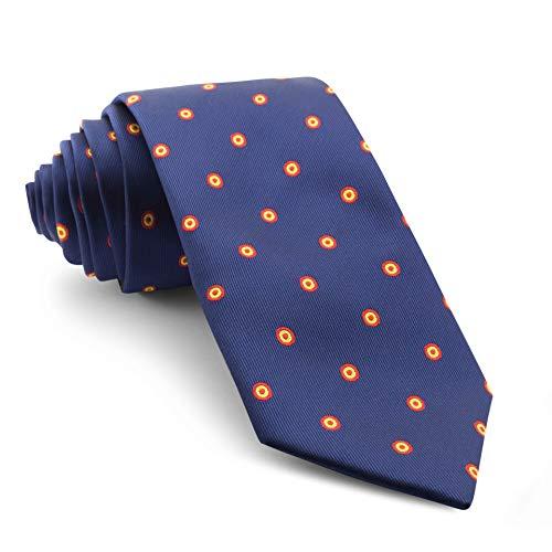 Cencibel Smart Casual Corbata Círculos Bandera de España Escarapela