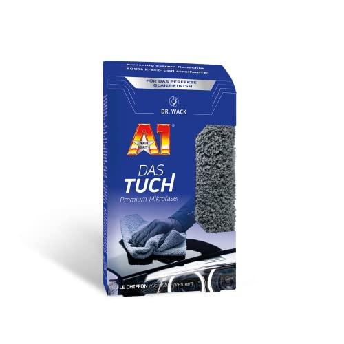 Dr. Wack – A1 DAS TUCH 40 x 40 cm I Premium Mikrofasertuch für das perfekte Glanz-Finish auf dem Lack I Extrem weich, flauschig & fusselfrei I Hochwertige Autopflege – Made in Germany
