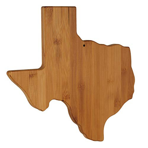 Texas State Shaped Bamboo Serving & Cutting Board, Texas Themed Gifts - Unique Wall decor for Home...