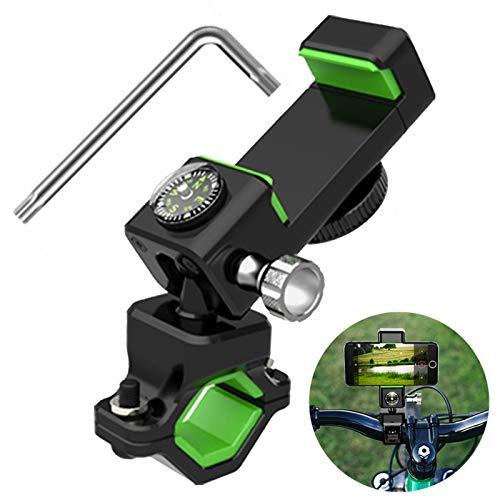 Handy Halterung Fahrradlenker Motorrad Universal Abnehmbare, Handyhalter Fahrrad Handy Halterungen mit 360° Drehbare, Halterung für 4-6.5