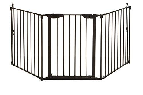 Dreambaby Cancelletto di sicurezza regolabile per camino Newport Adapta-Gate (85.5cm - 200cm), nero