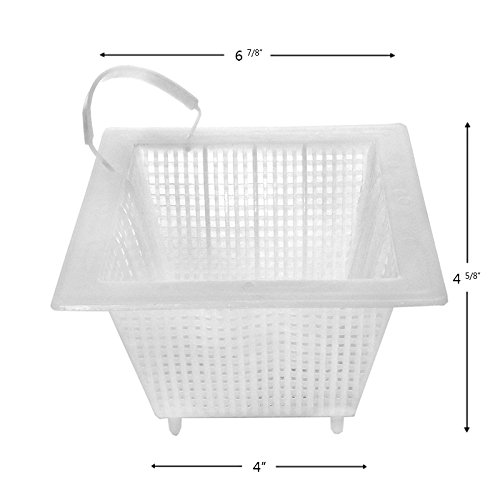 Square Swimming Pool Skimmer Basket with Handle for Anthony Concrete 7' x 7' B39 B-39