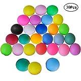 Mengger Tischtennisbälle Training Tischtennis Ball 30 Stück Mischfarben Tischtennis-Bälle Tischtennis-Set