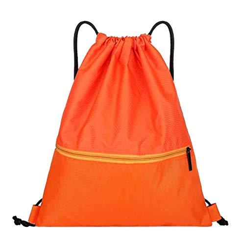fhdc Zaino Colore Solido Zaino Fashion Beach Bags Poliestere Oxford Maniglia Molle ZainoArancione