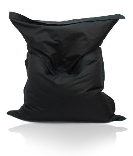 Kinzler S-10026/31 XXL Riesensitzsack, 140x180 cm, Sitzsack Outdoor Indoor, in vielen verschiedenen Farben, mit Innensack, schwarz