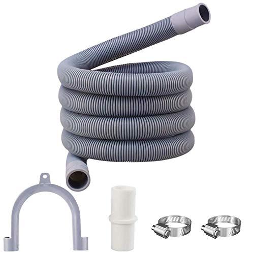 Tuofang Tubo di scarico, Tubo per lavatrice, Scarico Lavatrice e lavastoviglie Prolunga per tubo di scarico, Tubo di Scarico Flessibile Per Lavatrice Kit, per lavatrice e lavastoviglie (3m)