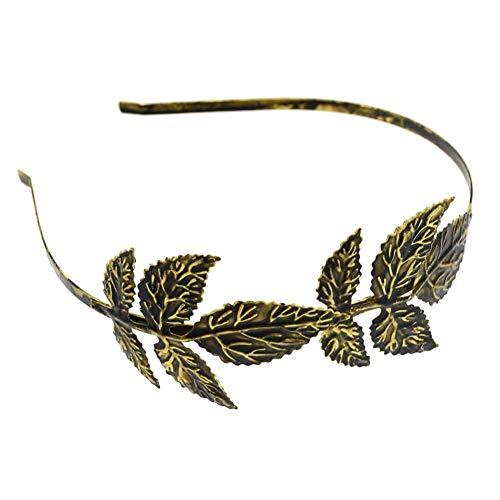 JINGMO Bronze Or Feuille D'Olivier Bandeaux Weddng Cheveux Accessoires pour Fille Front Head Head Épingles À Cheveux Grec Cheveux Vigne Bijoux
