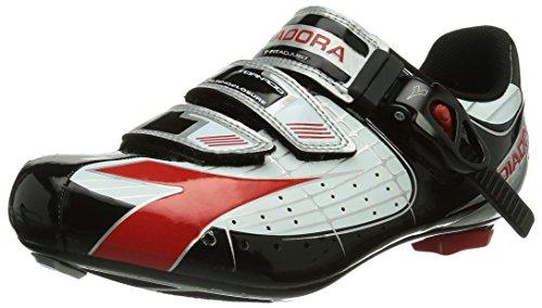Diadora TORNADO, Unisex-Erwachsene Radsportschuhe - Rennrad, Schwarz (weiß/schwarz/rot 1470), 42 EU