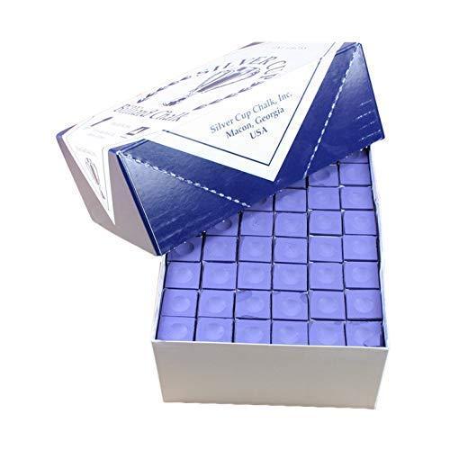 Silver Cup Marque Billard Craie, Boîte de 144, Couleur Violet