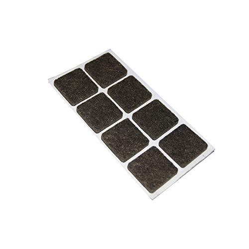 Almohadillas adhesivas cuadradas de 25 x 25 mm. - Marrón - 8 unidades