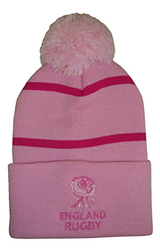 arena England Rugby Bobble Hat–Pink