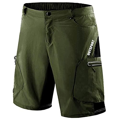 TN-KENSLY Pantalones Cortos para Correr tácticos del ejército para Hombres con múltiples Bolsillos Pantalones Cortos Trabajo Carga para Hombres Army Green XXL