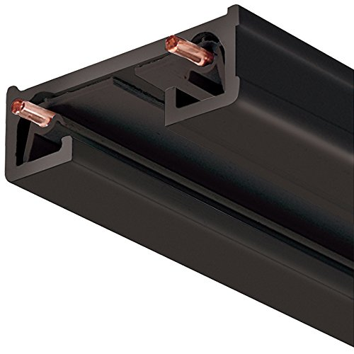 Juno Lighting R4BL LED Surface Trac Section Trac-Lites, 44-Inch, Black