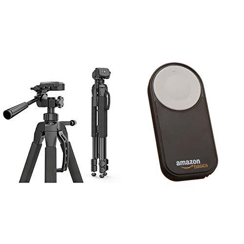 Hama Kamera Stativ Action 165 3D Tripod mit 61165cm Hohe leichtes Fotostativ mit 3 Wege Kopf Dreibeinstativ mit Spikes Kamerastativ schwarz Amazon Basics Fernausloser