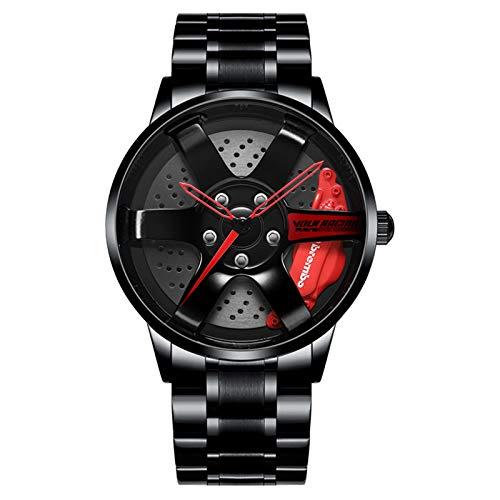 Reloj de pulsera creativo para hombre, reloj de pulsera para llantas de...