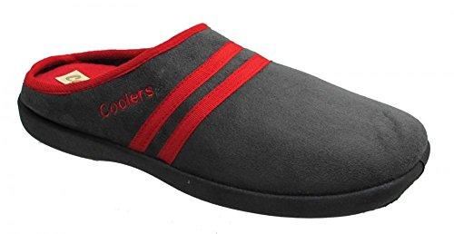 Coolers - Zapatillas para hombre con plantillas de espuma viscoelástica, tallas 41-47, color Negro, talla 45 EU