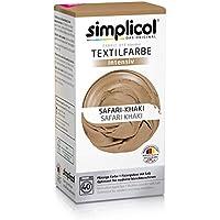 Simplicol Kit de Tinte Textile Dye Intensive Beige: Colorante para Teñir Ropa, Tejidos y Telas Lavadora, Contiene Fijador para Colorante Líquido, Anti Alérgeno, No Destiñe, Seguro para su Lavadora