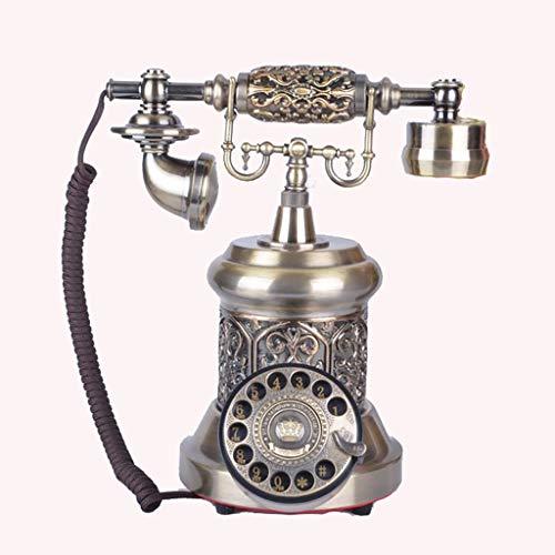 Antigua Moda Teléfono Teléfono Telpal Retro Vintage Estilo Antiguo Cordón Dial Rotary Teléfono Teléfono Teléfono Teléfono Decoración de Oficina, Estilo Europeo Teléfono de Teléfono Teléfono Collectore