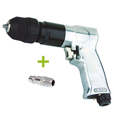 RZ - Trapano neumatico reversibile, automatico, da 10mm per compressore ad aria compressa 1800RPM, con raccordo maschio da 1/4 incluso