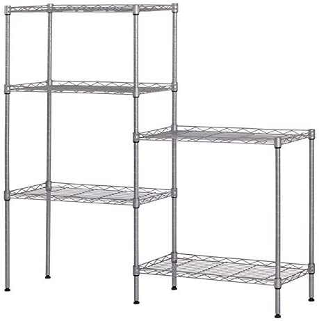 Seattle OFFicial site Mall FRITHJILL Storage Rack Free R Standing Adjustable Metal