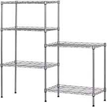 5 Tier Adjustable Wire Shelving Metal Storage Rack for Planter Laundry Bathroom Kitchen 550Lbs Capacity 21.3