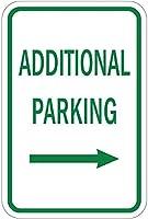 右矢印アルミ金属看板付きの追加駐車場