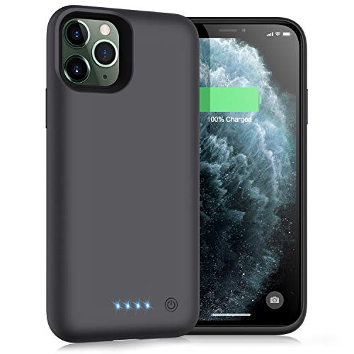 Trswyop Battery Case for iPhone 11 Pro,Upgrade 6800mAh Portable Charging Case for iPhone 11 Pro Rechargeable Backup External Battery Pack Extended Battery Protective Charger Case(5.8 inch)-Black