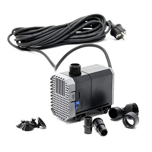 SunSun CHJ-900-10 Teichpumpe 900l/h 20W, als Filter- oder Bachlaufpumpe, Kabellänge 10m