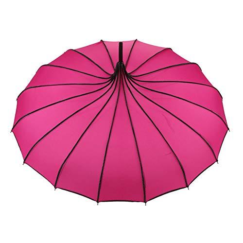 Gelentea Regenschirm mit Griff, Vintage-Pagoden-Regenschirm für Hochzeit, Party, Sonne, Regen, UV-Schutz, für den Außenbereich