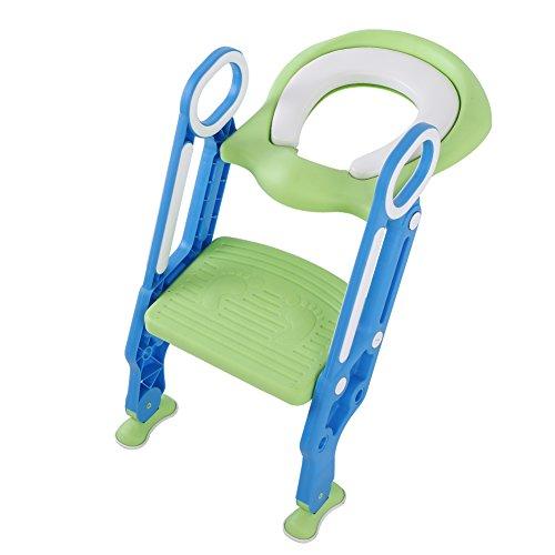 Cocoarm Asiento de Inodoro para bebés Plegable y Ajustable, Escalera de Inodoro...