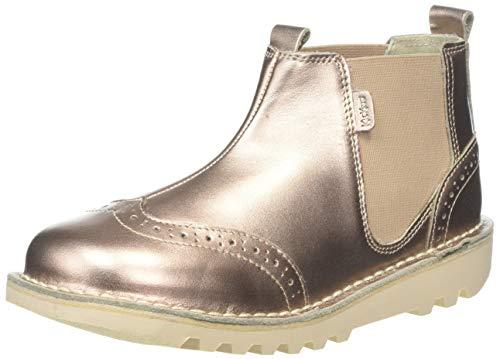 Kickers Mädchen Kick Brogue Chella Kurzschaft Stiefel, Gold (Gold Gld), 35 EU