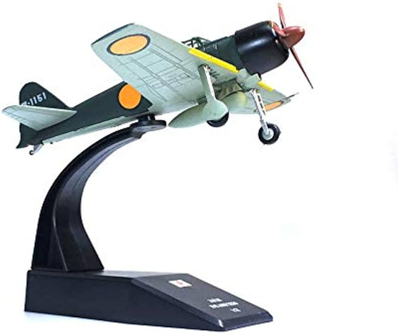 WWII Japan Mitsubishi A6M Zero 1 72 DIECAST Aircraft Long Range Plane Model