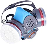 PT-60 Half Face Organic Vapor Respirator - ASTM Tested - 1 Year Warranty - P-A-1 Filters