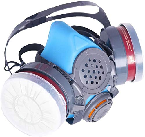 PT60 Half Face Organic Vapor Respirator  ASTM Tested  1 Year Warranty  PA1 Filters