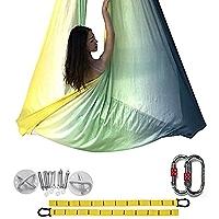 Aerial Silks Fabric Luft Yoga Seidenset Yoga Hängematte Lufttanz Dunkelgrün 10M
