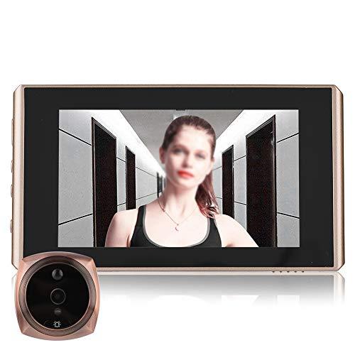 Topiky Cámara de Mirilla, Visor de Puerta Digital 4300E y Timbre de la Puerta Pantalla LCD de visión Nocturna de 2 Millones de píxeles 4.3 Pulgadas