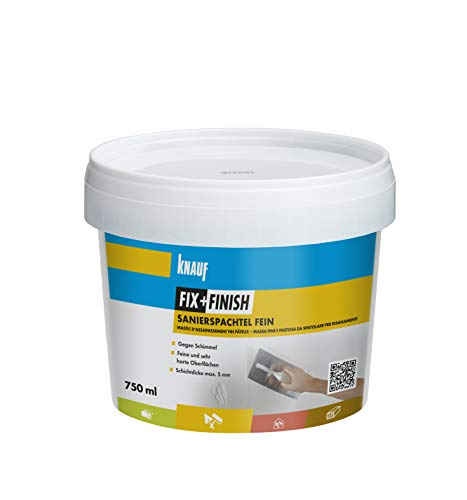 Knauf 593721 Fix+Finish Sanierspachtel fein, grau, 750 ml
