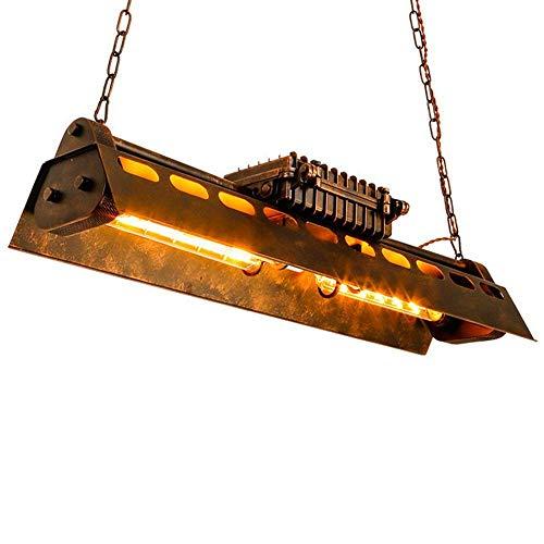 Ancien Industriel Fer Lustre Suspension Lumière pendante Rétro Lampe suspendue pour Îlot de cuisine Table de salle à manger Bar Loft Salon Réglable en hauteur Plafonnier Éclairage Edison Ampoule incl.