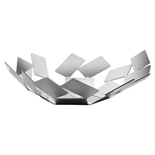 Alessi La Stanza dello Scirocco Fruttiera, Metallo, Argento, 24.5x23.2x6.2 cm