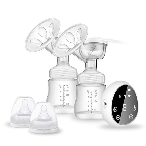 Great Features Of Electric Breast Pump, Rechargeable Portable Double Breastfeeding Pump with 3 Modes...