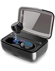 Bluetooth イヤホン 5.0 高音質 完全ワイヤレスイヤホン 自動ペアリング ブルートゥース5.0 左右分離型 ヘッドホン Siri対応 IPX8完全防水 両耳通話 マイク付き タッチ式 3000mAh充電ケース付き