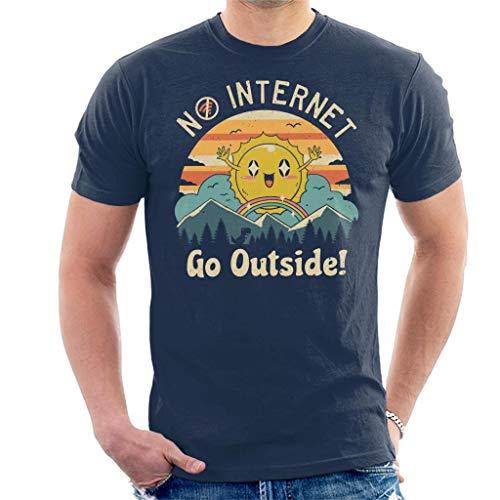 Geen Internet Vibes T-shirt voor heren