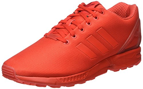adidas Unisex-Erwachsene ZX Flux Low-Top, Rot (Red/Red/Red), 43 1/3 EU