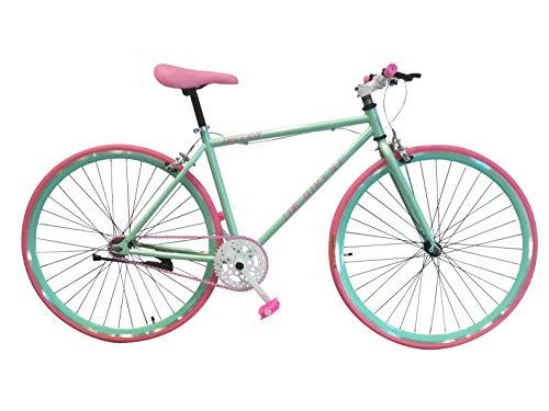 Helliot Bikes Soho 04 Fixie, Adultos Unisex, Verde, Talla Única
